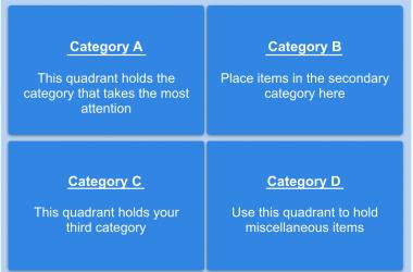 The Categorized Responsibility Alpha Matrix by templates.app