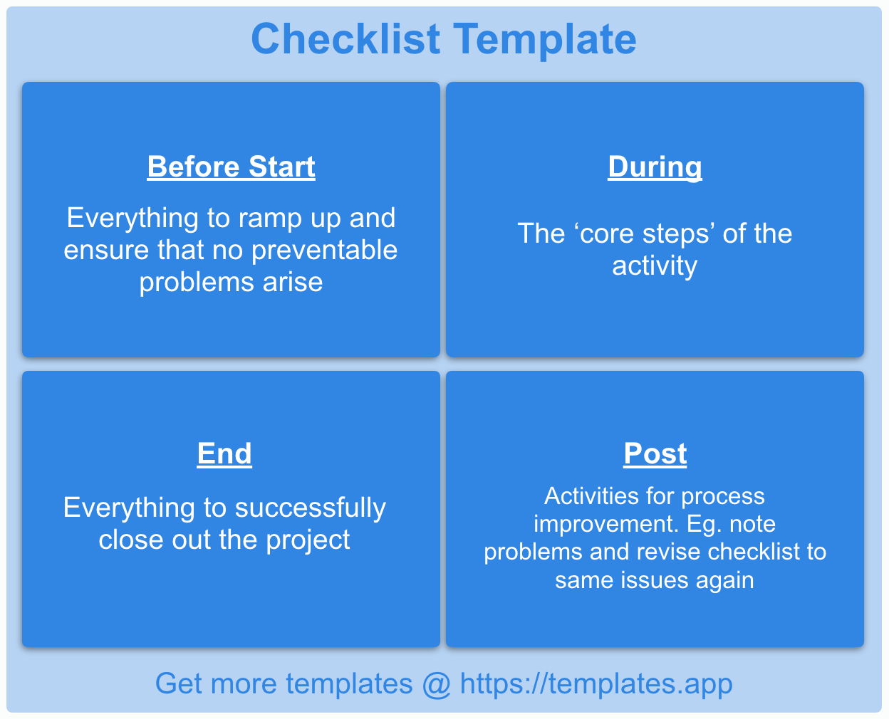 Checklist Template by Templates.app