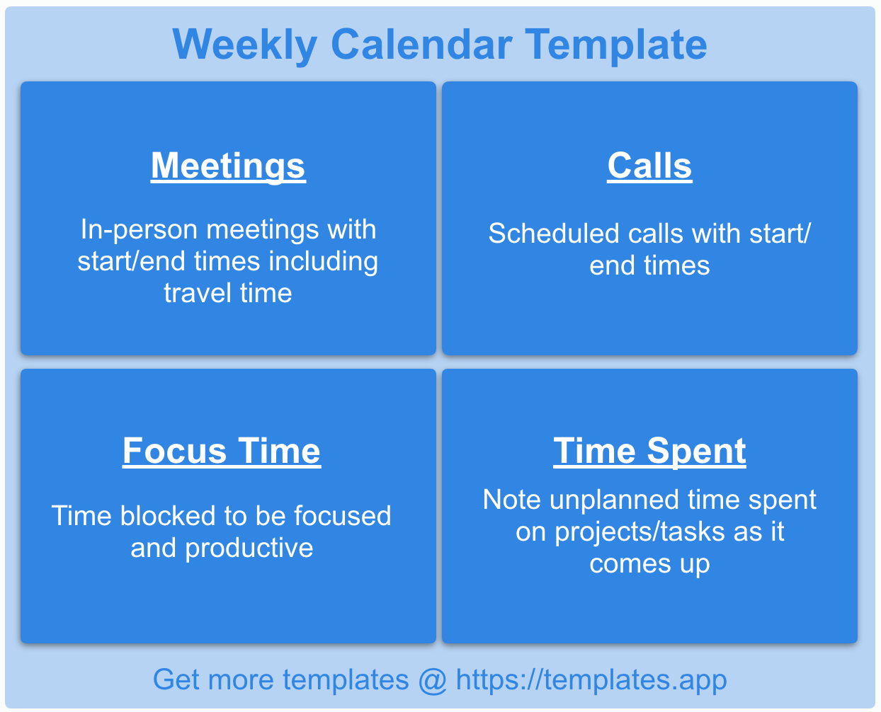 Weekly Calendar Template by Templates.App